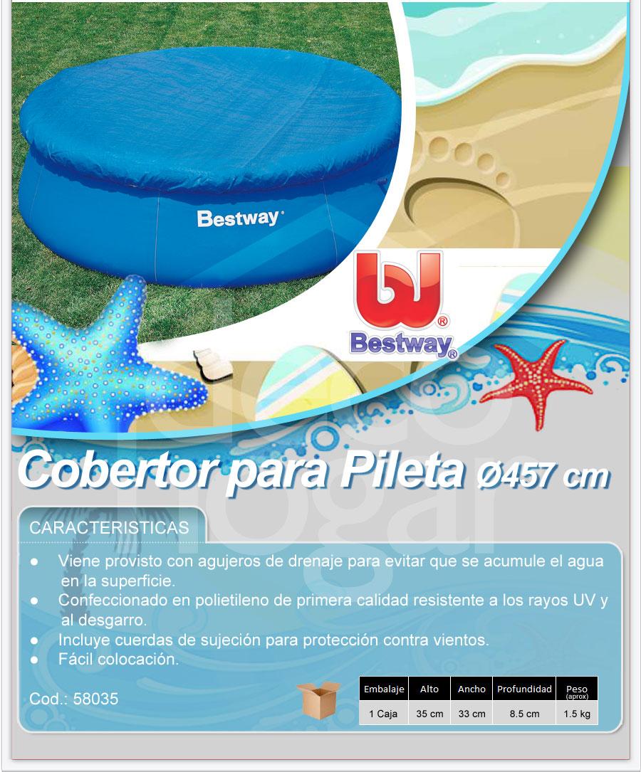 Cobertor para pileta inflable bestway 58034 de 457cm for Piletas bestway precios