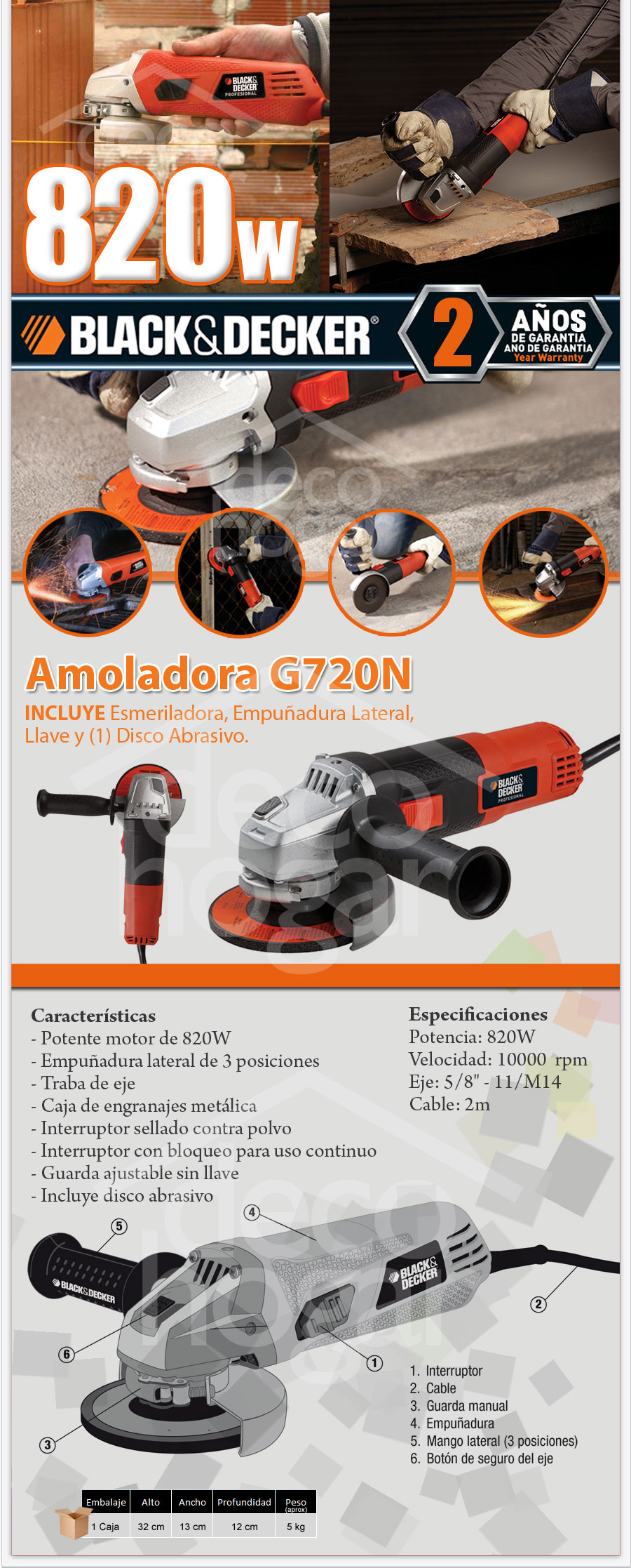 Amoladora Black & Decker