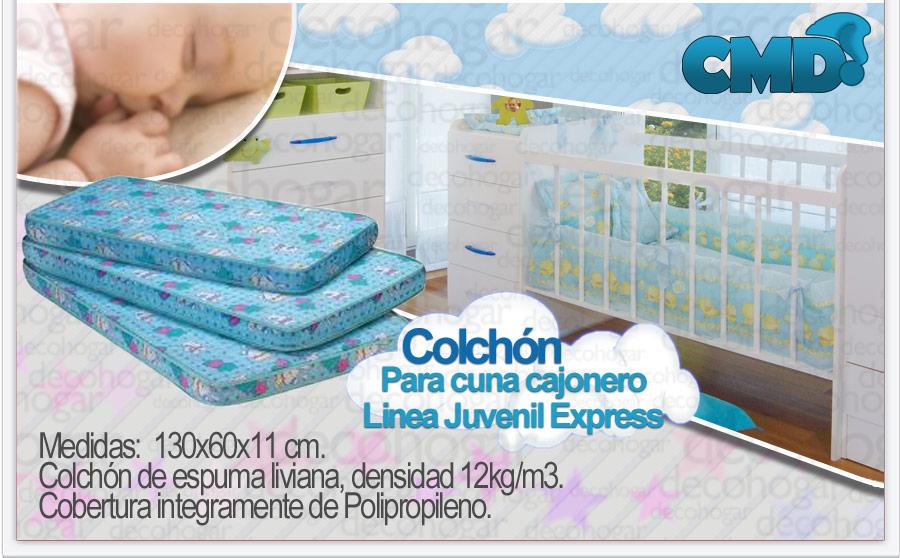 COLCHON ESPUMA CUNA FUNCIONAL 130 X 60 X 12