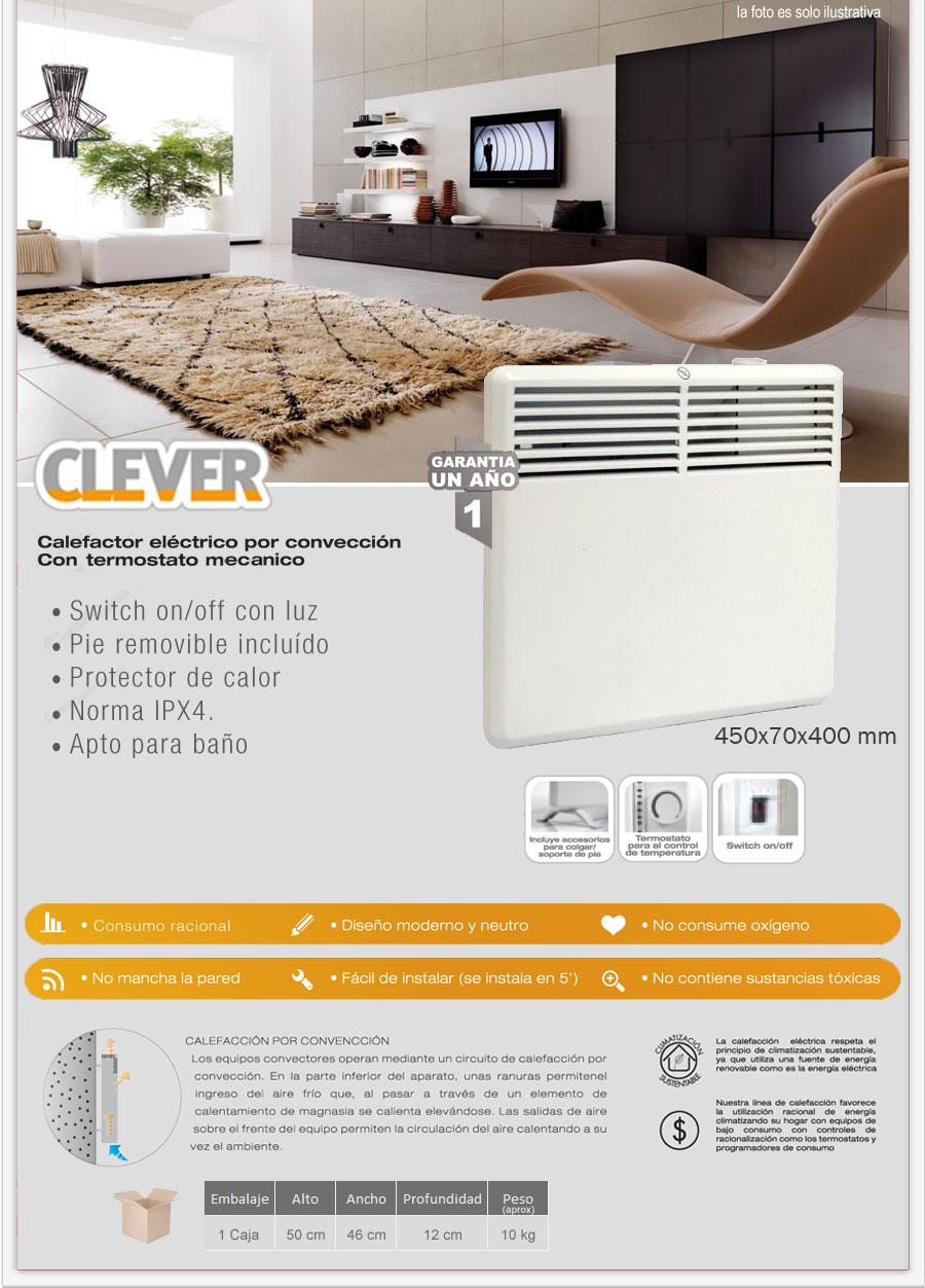 calefactor electrico por conveccion con termostato mecanico distribuidor decohogar argentina