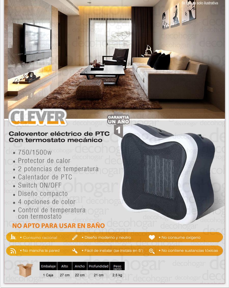 Caloventor electrico clever ptc blanco 1500w bajo consumo - Toalleros electricos bajo consumo ...