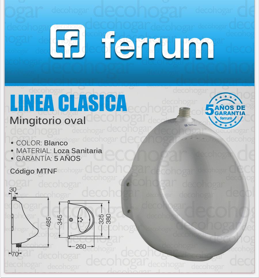 Mingitorio oval ferrum loza blanca urinario urinal mtnf Inodoros ferrum precios