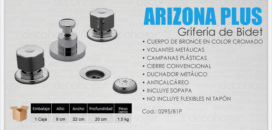 Griferia Para Baño Fv:Grifería Fv Arizona Plus Bidet Cn Transferencia Cromada Baño