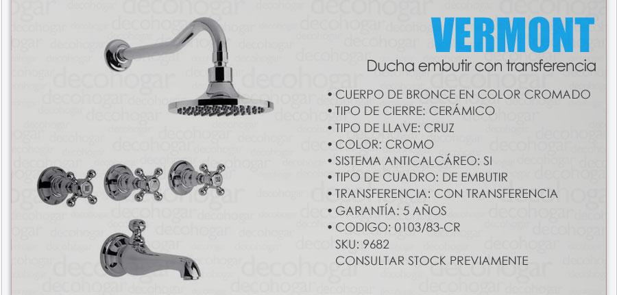 Grifer a fv vermont ba era ducha embutir c transf 0103 83 for Griferia de ducha fv precios