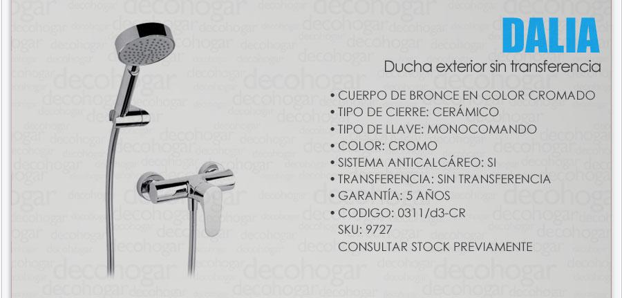 Grifer a fv dalia ba era ducha exterior s transf 0311 d3 for Griferia de ducha fv precios