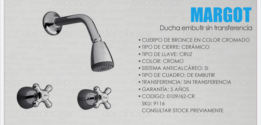 Grifer a fv margot combo lavatorio pared ducha bidet for Griferia de ducha fv precios