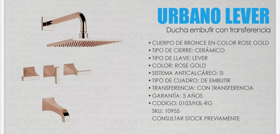 Grifer a fv urbano lever ducha embutir rose gold 0103 h3l for Griferia de ducha fv precios