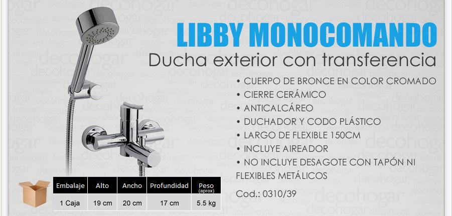 Grifer a fv libby monocomando ba era y ducha exterior for Griferia para ducha fv precios