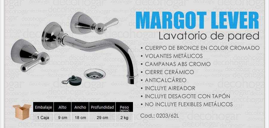 Grifer a fv margot lever lavatorio pared embutir cromo for Griferia para lavatorio precios