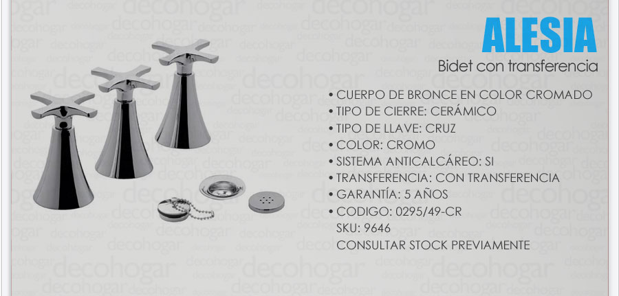 Grifer a fv alesia combo lavatorio pared ducha bidet for Griferia de ducha fv precios