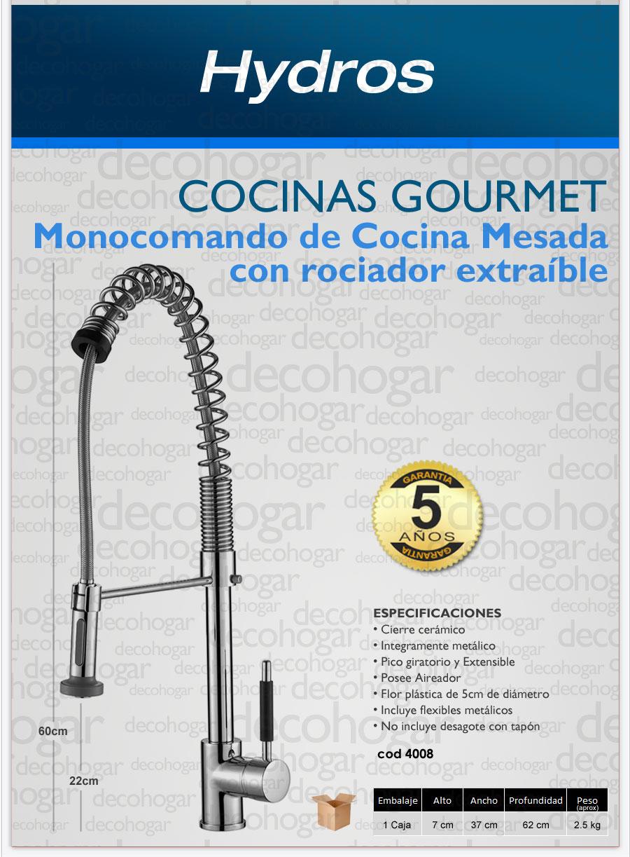 Griferia para cocina serie GOURMET Hydros