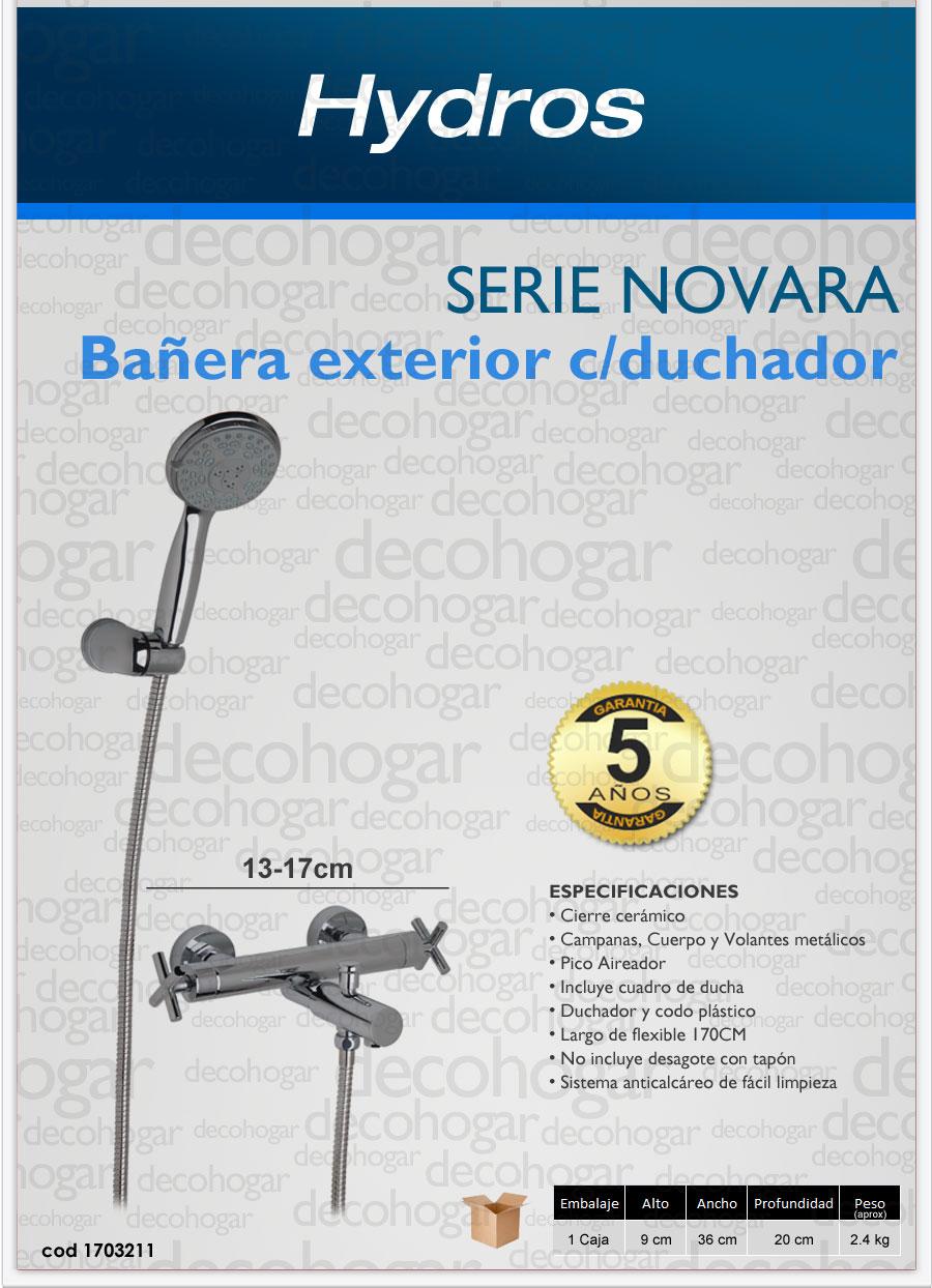 Griferia para bañera de exterior con transferencia serie NOVARA Hydros