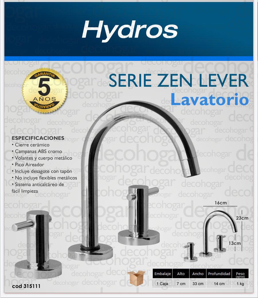 griferia de lavatorio serie ZEN LEVER Hydros