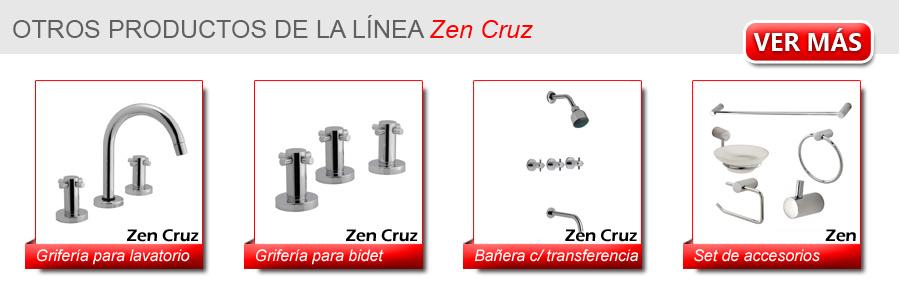 Griferia Para Baño Hydros:Ver los productos de la linea completa de la serie ZEN CRUZ de Hydros