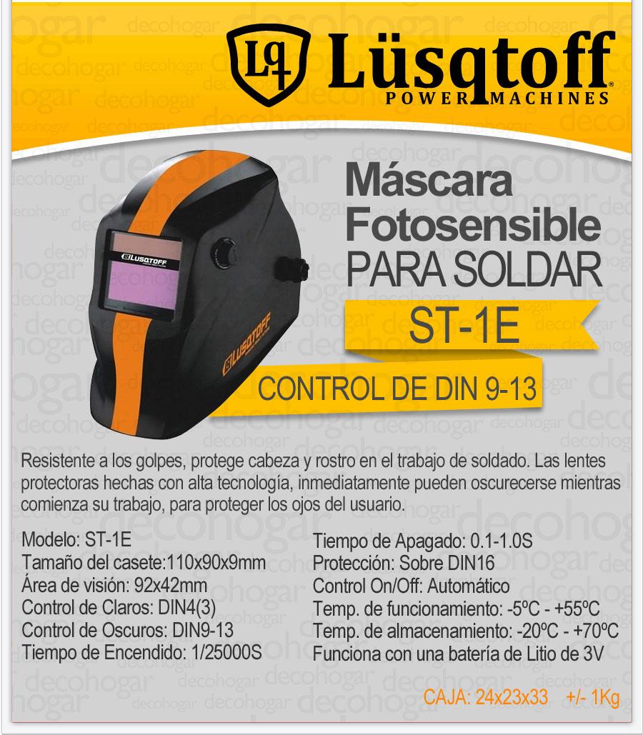 Mascara fotosensible para soldar lusqtoff st 1e envio - Mascara de soldar ...