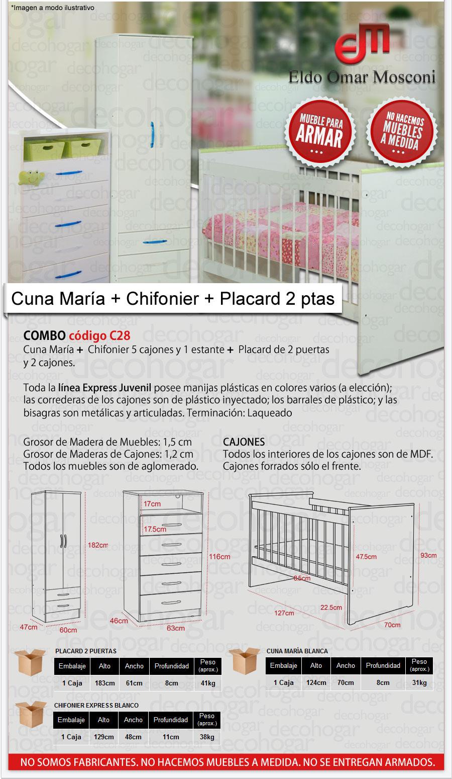 CUNA Y CHIFONIER PLACARD MOSCONI