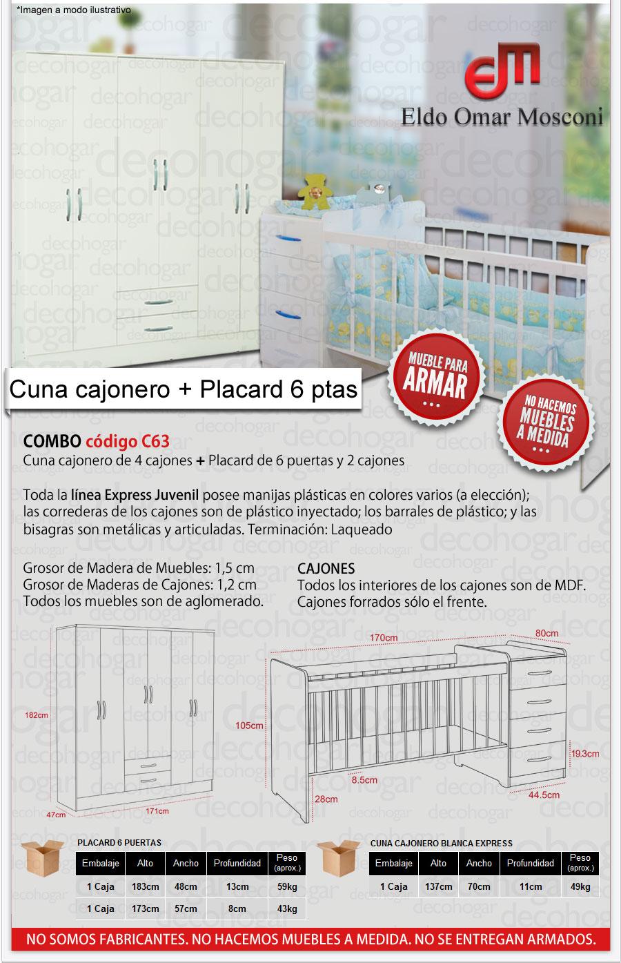 CUNA CAJONERO Y PLACARD 26 MOSCONI