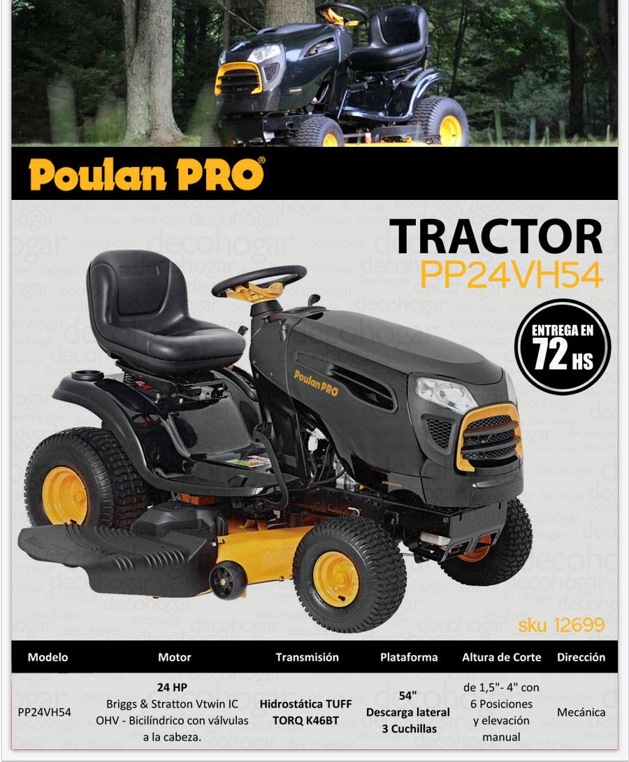 Tractor Poulan Pro insumo de riego en DecoHogar