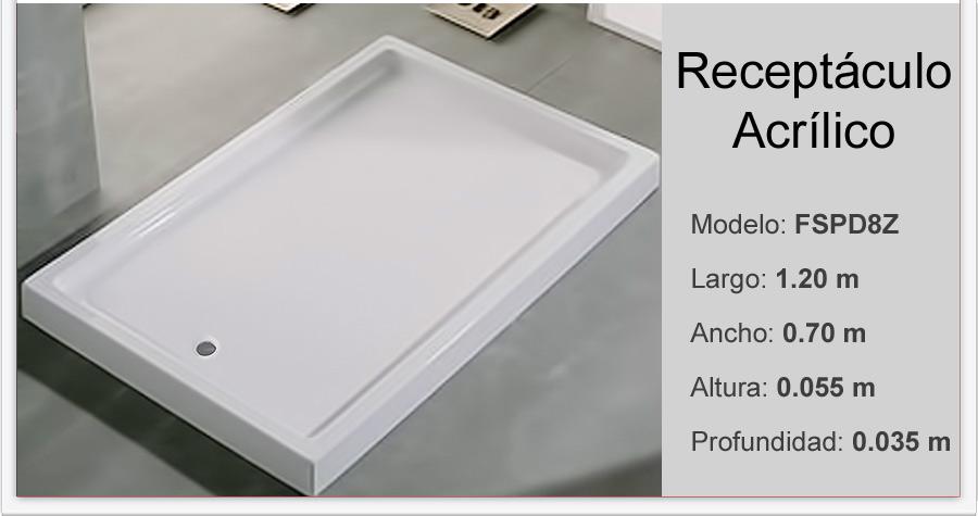 Receptaculo para box ducha 120x70x5 5 cm acr lico Receptaculo ducha a medida